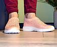 Кросівки жіночі бежеві м'які і зручні текстиль b-282, фото 3