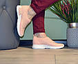 Кросівки жіночі бежеві м'які і зручні текстиль b-282, фото 4
