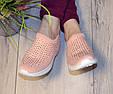 Кросівки жіночі бежеві м'які і зручні текстиль b-282, фото 6