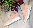 Кросівки жіночі бежеві м'які і зручні текстиль b-282, фото 9