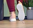 Кроссовки женские бежевые мягкие и удобные текстиль b-282, фото 5