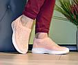 Кросівки жіночі бежеві м'які і зручні текстиль b-282, фото 8
