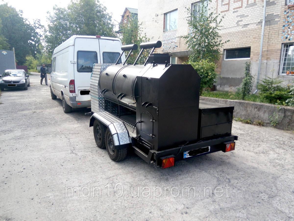 Смокер-трейлер, кухня на колесах