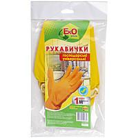 Перчатки резиновые универсальные EKO plus, размер M желтый цвет