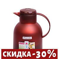 Термос-чайник 1000мл пластик/стекло колба