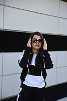Толстовка женская Цвет черный с белым