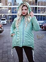 """Женская двусторонняя куртка из плащёвки """"Moncler"""""""