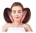 Массажная роликовая подушка массажер в машину Massage pillow  для спины и шеи, фото 6