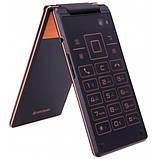 Мобильный смартфон раскладушка Lenovo A588t gold, фото 3