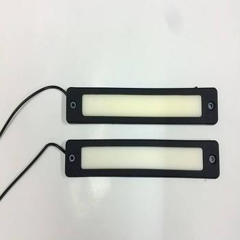 Дневные ходовые огни (дхо) гибкие на скотче 12v  19см  Белый COB  Line (№20) (яркие) (2шт)
