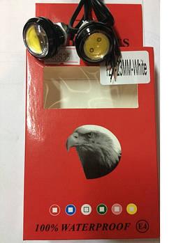 Глазки-линзы скотч LED D=23мм 1.5W 12V (2521) (2шт)