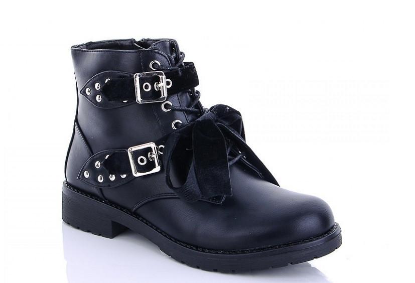 Ботинки женские черные Lion-hx09 зима