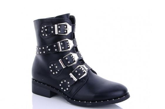 Ботинки женские черные Lion-hx08 зима