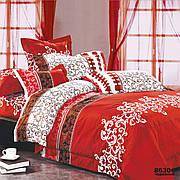 Комплект постельного белья ранфорс 8630 красный ТМ  Вилюта двухспальный