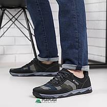 Кросівки чоловічі камуфляж оливковий відтінок, фото 3