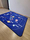 """Безкоштовна доставка! Килим в дитячу """"Парад планет"""" утеплений килимок мат (1.5*2 м), фото 4"""