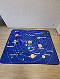 """Безкоштовна доставка! Килим в дитячу """"Парад планет"""" утеплений килимок мат (1.5*2 м), фото 3"""