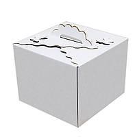Картонная коробка для торта Бабочка 3 штуки (250*250*200 мм)
