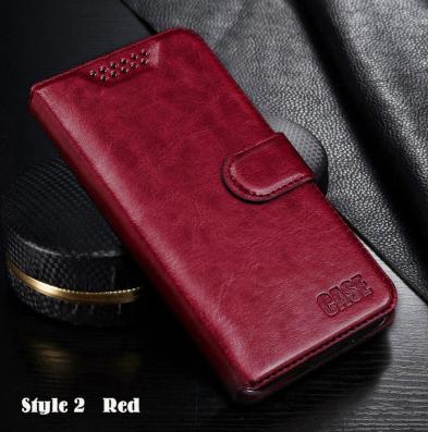 Чехол - книжка для Xiaomi Redmi 9A с силиконовым бампером и отделением для карточек Цвет Красный