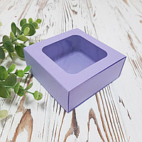 Коробка для сувениров, подарков, украшений лавандовая 90х90х35 мм.