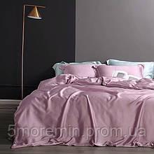 Постільна білизна Розкішний Тенсел. Колір Рожевий Перли. 100% тенсел. Євро розмір