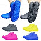 Силіконові чохли бахіли для взуття від дощу і бруду розмір L 42-45 розмір колір рожеві, фото 5