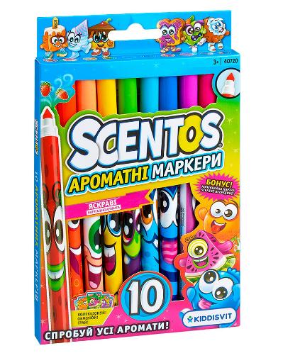 Набор ароматных маркеров для рисования тонкая линия 10 цветов