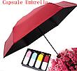 Мини зонт капсула Сapsule Umbrella mini компактный зонтик в футляре голубой, фото 6