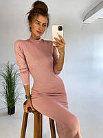 Женское приталеное платье длины миди из ткани рибана (р 42, 44) к83PL1582, фото 1