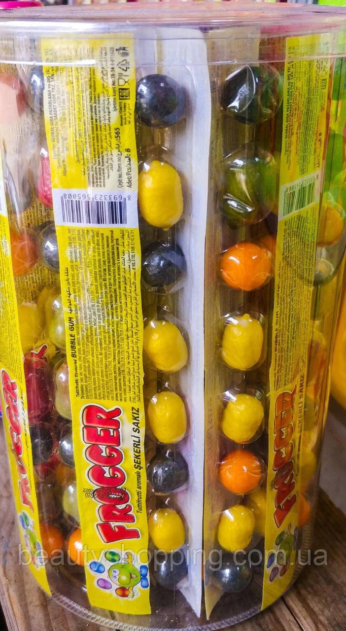 Жевательные резинки фруктовые на блистере Bubble gum 42 блистера Saadet Турция
