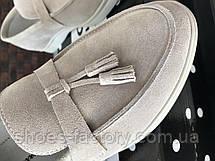 Женские замшевые лоферы в стиле Loro Piana, Беж, фото 3