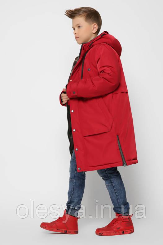 Детская зимняя куртка парка для мальчиков X-Woyz 8315 размер 40 (146-152)