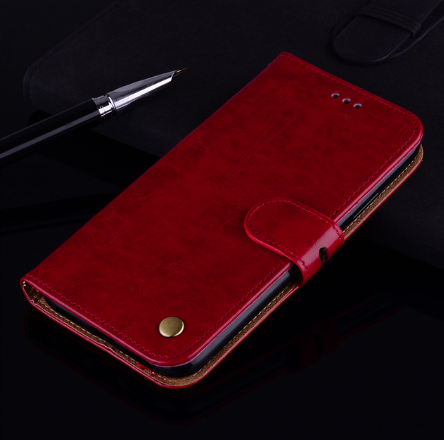 Чехол - книжка для Xiaomi Redmi 8A / Xiaomi Redmi 8 с силиконовым бампером внутри Цвет Красный