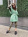 Женская демисезонная плащевая жилетка оверсайз с объемным капюшоном 71zi46, фото 4