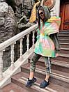 Женская демисезонная плащевая жилетка оверсайз с объемным капюшоном 71zi46, фото 7