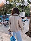 Женская куртка кожаная оверсайз со спущенным рукавом 71kr327, фото 6