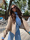 Женская куртка кожаная оверсайз со спущенным рукавом 71kr327, фото 9