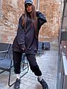 Женский повседневный спортивный костюм (худи и джогеры) р42-46 k5so1055, фото 2