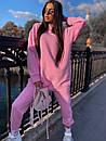 Женский повседневный спортивный костюм (худи и джогеры) р42-46 k5so1055, фото 5