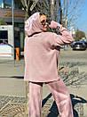 Женский повседневный костюм с вышивкой на груди и капюшоном (р. 40-54) 18ks132, фото 2