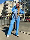 Женский повседневный костюм с вышивкой на груди и капюшоном (р. 40-54) 18ks132, фото 5