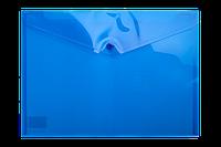^$Папкаконверт на кнопке А4 глянцевый полупрозпластик синяя