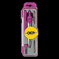 @$Готовальня BASIS 5 предметов розовый KIDS Line