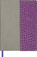 @Ежедневник недат PRIMO A5 фиолетовый с серым исккожа