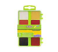 @$/Акварель 8 цветов пласт/кор б/кист салатовый KIDS Line