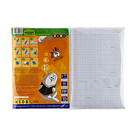 Пленка самоклеящаяся для книг 10 листов (45x32см) / кулек прозрачная KIDS Line