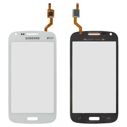 Сенсор (тачскрін) для Samsung I8260 Galaxy Core, I8262 Galaxy Core білий, фото 2