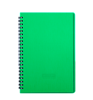 @$/Тетрадь для записей RAIN L2U А5 80 л клетка пластиковая обложка зеленая