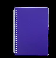 Тетрадь для записей BRIGHT L2U А5 60 л клетка фиолетовая пластобложка