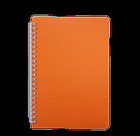 Тетрадь для записей BRIGHT L2U А5 60 л клетка оранжевая пластобложка